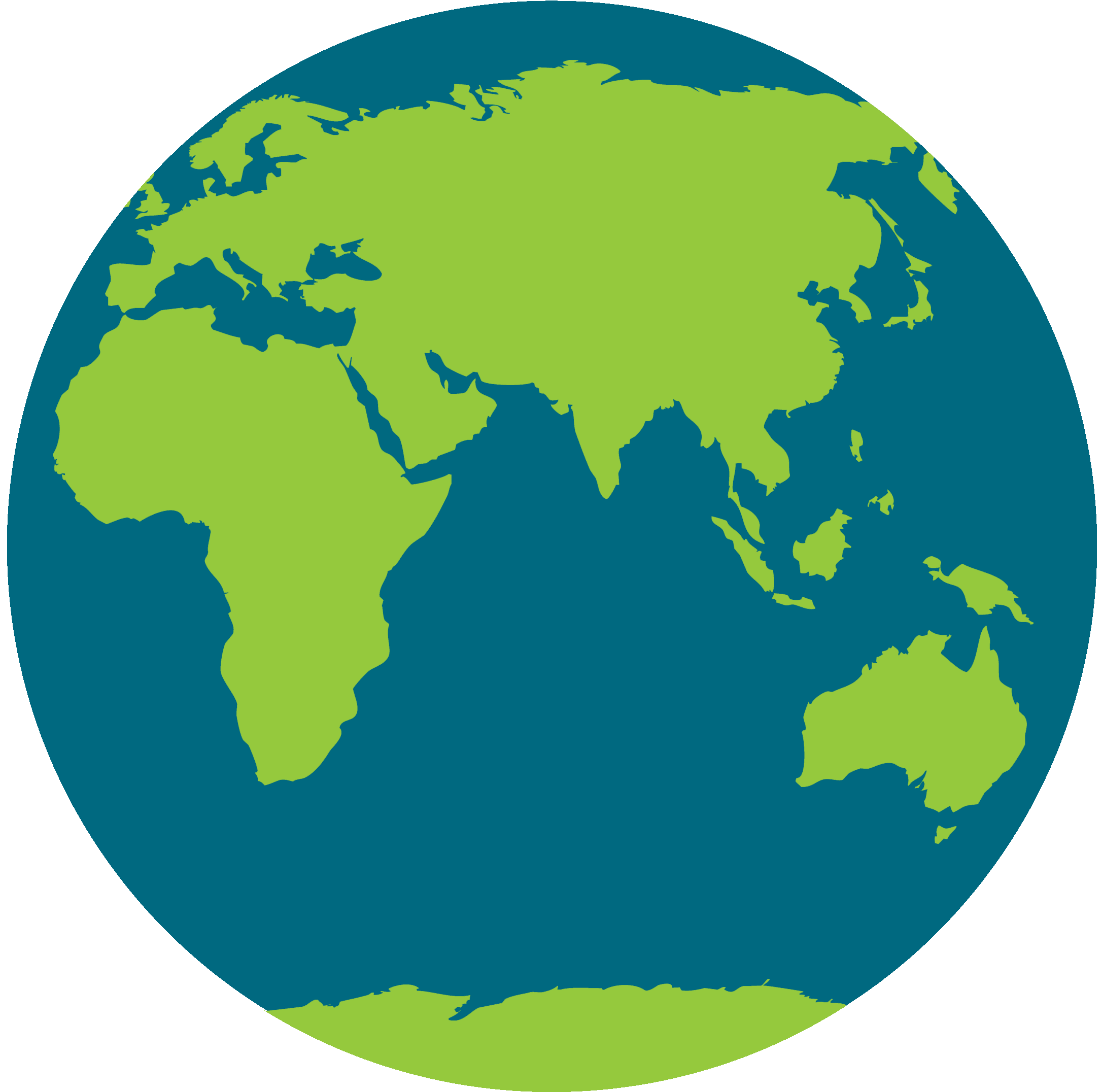 World Maps In InterVarsity Colors